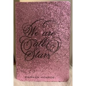MARILYN PINK GLITTER WE ARE ALL STARS NOTEBOOK